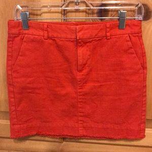 EUC Gap Orange-Red Mini Skirt - 00